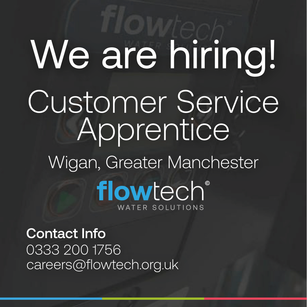 We are hiring! Flowtech Water Solutions are looking for an hardworking Customer Service Apprentice with ambition to join our sales team.